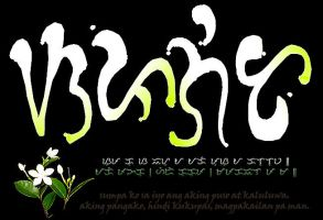 Sampaguita in Baybayin by Nordenx