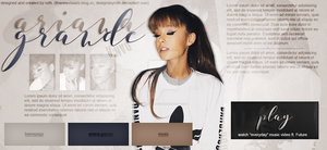 ARIANA GRANDE FREE HEADER by designsbyroth