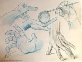 Hands practice by Sotalean