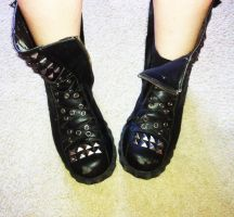 Because these boots are awesome by TheBlackCladPrincess