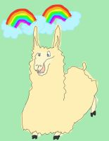 double rainbow Llama. YAY by V-Babe007