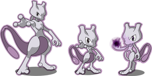Three Mewtwo by Inextasie