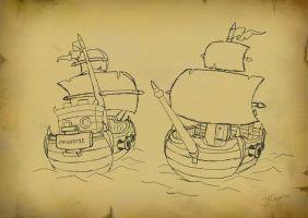 pirate ship by JKGamba
