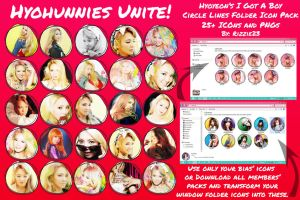 Hyoyeon IGAB Circle Lines Folder Icon Pack by Rizzie23