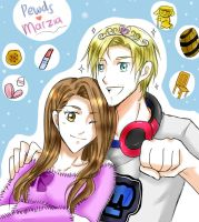 Pewdiepie and Marzia by pink-crest