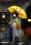 Rain by KuroiiFox