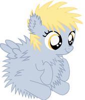 Fuzzy Derpy Vector by TagTeamCast