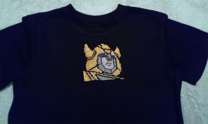 Bumblebee cross stitched t-shirt by starrley