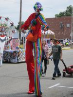 Red Clown on Stilts by kdawg7736