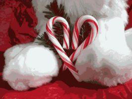 Candy Cane Heart by Pokettkinz