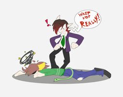 Collab: Should have seen it coming Gavin by SacredLugia