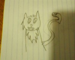 Kitty! I drew this on the bus. ^^ by fooo4