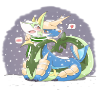 Samurott and Serperior 3 by PixivAlt