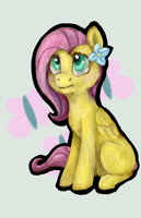 My little Fluttershy by RussiaDog