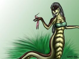 Cged Naga for FrostIndri by queenelf