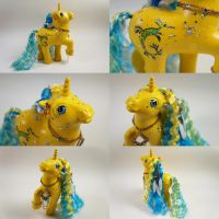 Yellow Weedy Dragon pony by lovelauraland