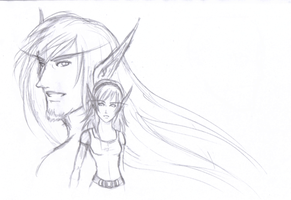 Alysaene and Ceridonis by BeeInDreaming