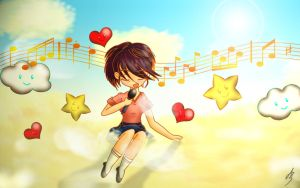 Singing Memories On Clouds by Zazi-chan