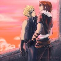 Leon x Cloud by talyafera