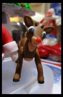 Fondant Rudolph the Red-Nosed Reindeer by Leara