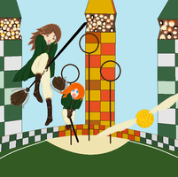 Slytherin quidditch by DeathAuther