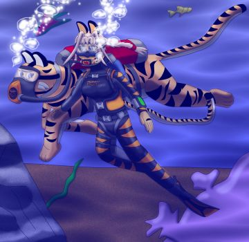 Scuba tigers by Suomipoika11