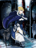 Saber- In Cold, My King Is by Dane-of-Celestia