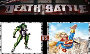 DEATH BATTLE IDEA the She-Hulk vs Supergirl by JefimusPrime
