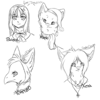 Free Sketches by oOCupcakeOo