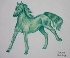 Galloping Green by Salvada
