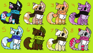 Scarf Kitties :D [CLOSED] by mossyyadopts