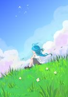 Blue skies by Jump-Button