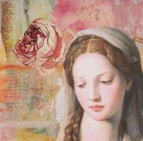 Madonna And Rose (card) by KanchanCollage