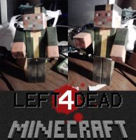 Left 4 Dead papercraft Bill by Notason89