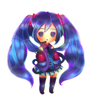 Chibi Miku by InfinityYellowA