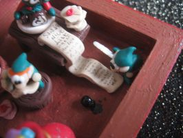 Christmas diorama: adding himself to Santa's List by SelloCreations