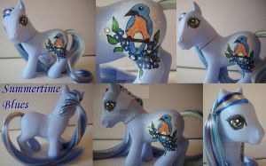 My little Pony Custom Summertime Blues $36 by BerryMouse