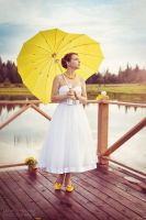Yellow wedding bride by Swan-Lake