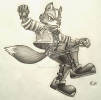 Fox McCloud Pencil Drawing 5 by Spectrum-VII