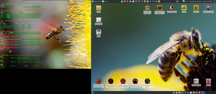 July 2016 Desktop - Arch Linux and Xfce by hamishpaulwilson