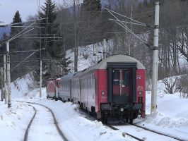 Train in snow by ranger2011