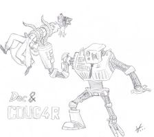 Doc and COUG4R uncolored by Verkele