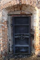 Brick Wall and door_Stock by DXstock