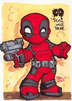 Chibi-Deadpool. by hedbonstudios