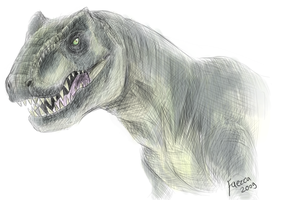 T rex by Faezza