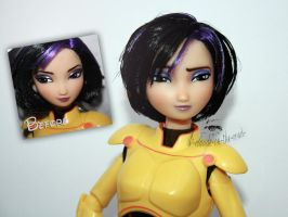 Disney GoGo Tomago Doll Repaint |Before-After No.2 by claude-on-the-road