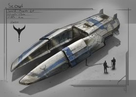 Scout Ship by St-Pete