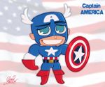 Chibi Captain America by princekido