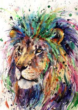 rainbow lion by ElenaShved