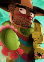 Mexicun Western Hero Diggd and his Slauw .. by ArtExxo